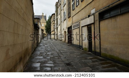 Old Deserted Inner City Alleyway Background - stock photo