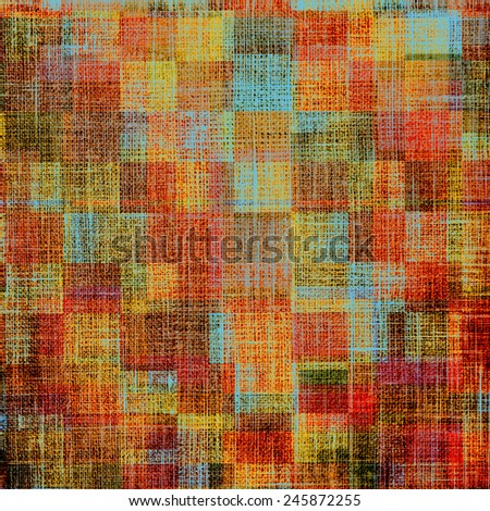 Old designed texture as abstract grunge background. With different color patterns: purple (violet); yellow (beige); brown; red (orange); cyan - stock photo