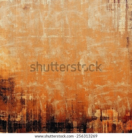 Old designed texture as abstract grunge background. With different color patterns: yellow (beige); brown; red (orange) - stock photo