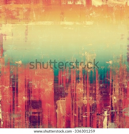 Old designed texture as abstract grunge background. With different color patterns: yellow (beige); blue; purple (violet); pink - stock photo