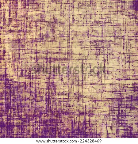 Old designed texture as abstract grunge background. With yellow, purple, violet patterns - stock photo