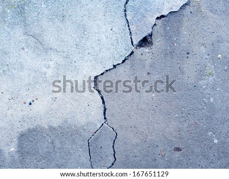 old destroyed cement wall background - stock photo