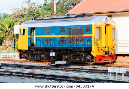Old diesel hydraulic locomotive in the railway yard of Phitsanulok station,Thailand - stock photo
