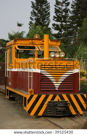 old diesel locomotive - stock photo