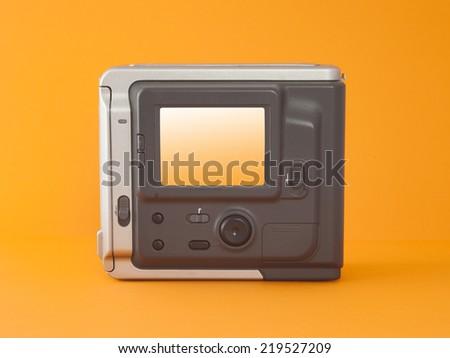 old digital photo camera isolated - stock photo