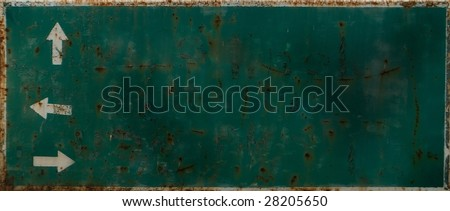 old direction sign - stock photo