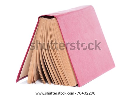 Old dirty book isolated on a white background - stock photo