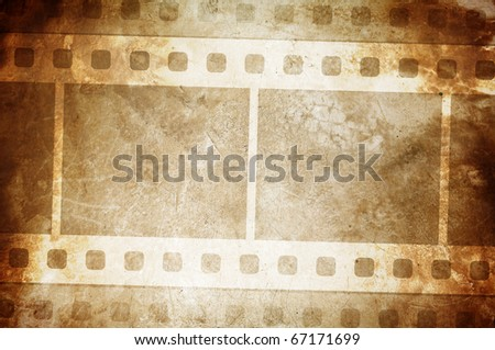 old dirty grunge film strip