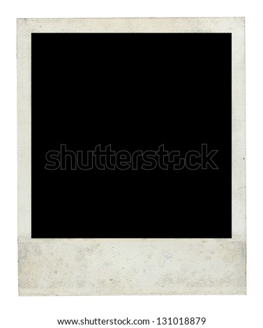 Old Dirty retro Frame Front Side with Clipping Path - stock photo