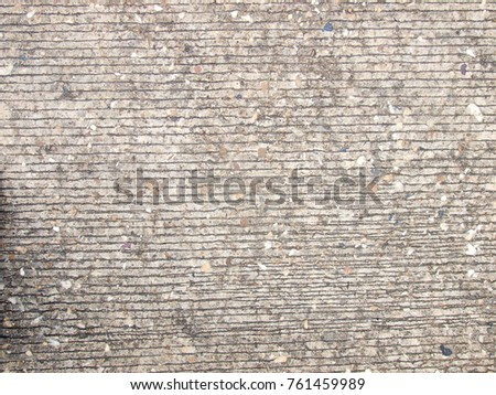 old dirty rustic grunge weathered aged concrete pathway floor outdoor for use as backdrop or background picture