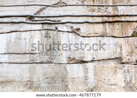 old dirty striped gray concrete wall background texture