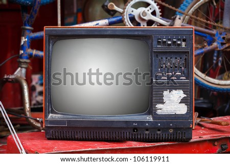 Old & Dirty Television - stock photo