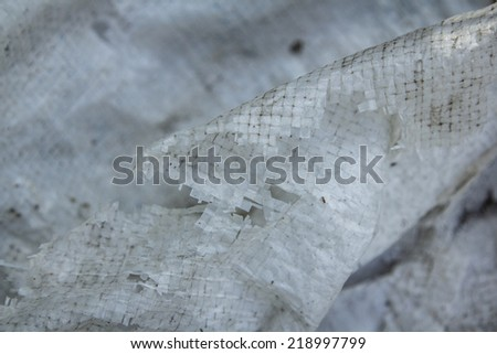old dirty white plastic mesh texture