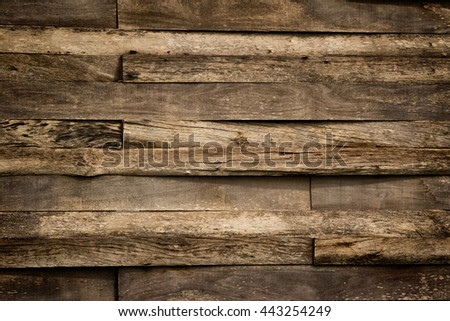 Old dirty wooden wall ,use for background and texture - stock photo