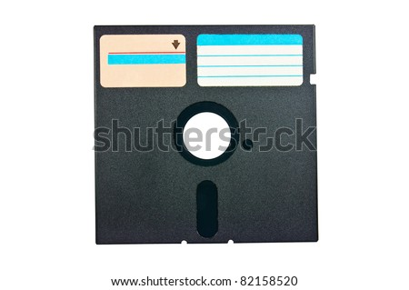 old diskette - stock photo