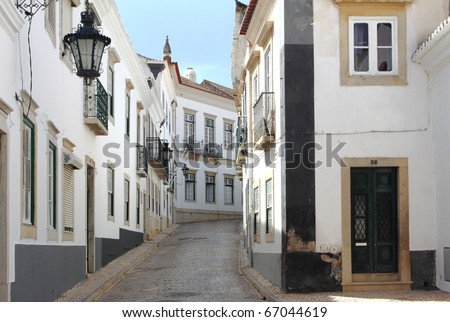 Old district in Faro, Algarve (Portugal) - stock photo