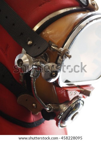 Old diving mask - stock photo