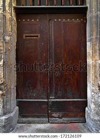 Old door. Abstract background. - stock photo