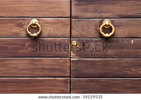 Old door detail - stock photo