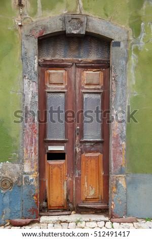 old door/ door/ old door marking the entrance to an old building & Old Door Door Old Door Marking Stock Photo (Download Now) 512491417 ...