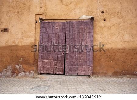 Old door in Marrakech - stock photo