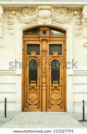 Old door in Paris - stock photo