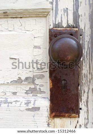 old door knob. - stock photo