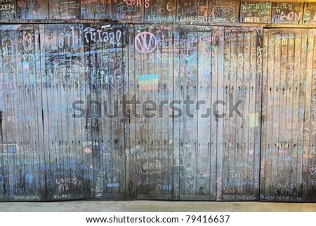 old door (wood texture) - stock photo