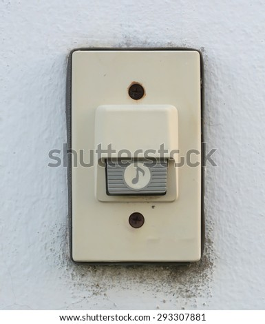 Old doorbell on the wall