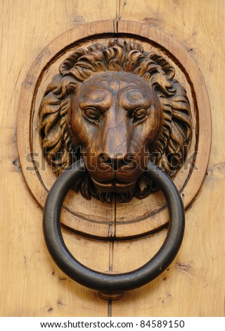 old doorknocker, florence, italy