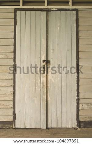 Old doors - stock photo