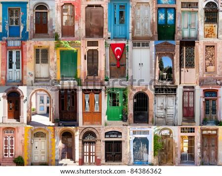 Old doors from Turkey - stock photo