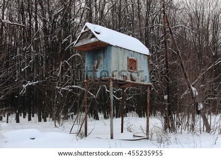 Old dovecote in Russia - stock photo