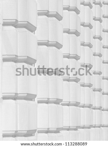 Old downtown building exterior pattern texture - stock photo