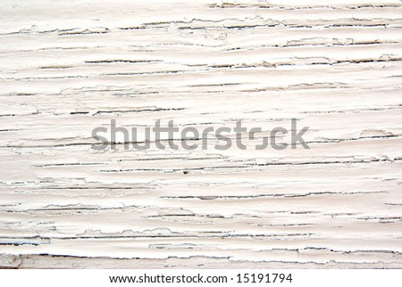 Old dried paint on wood for a background - stock photo