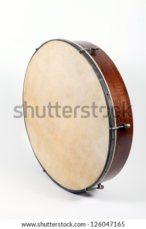 Old Drum isolated on a white background