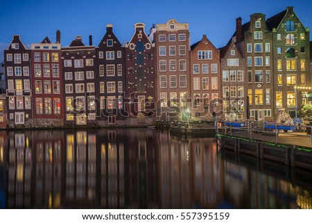 Old Dutch Houses On The Canal