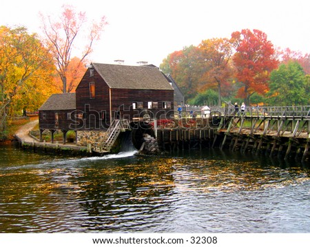 Old Dutch Mill house in phillipsburg Manor - stock photo