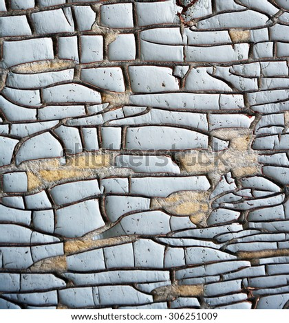 old dyed wall with cracks abstract background - stock photo