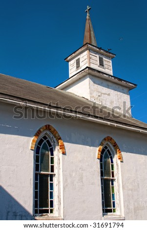 Old east North Carolina church from 1700s - stock photo
