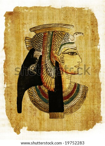 old egyptian parchment - stock photo