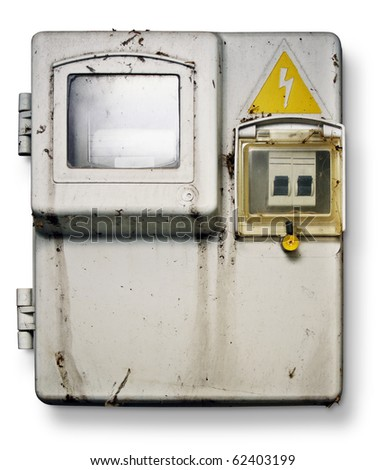 old electronic control panel - stock photo