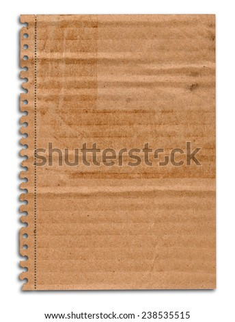 Old empty book cover with shadow, edges are frayed - stock photo