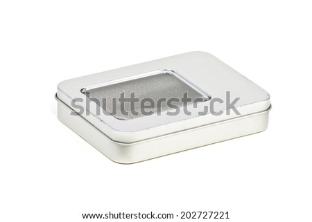 Old empty metal box - stock photo