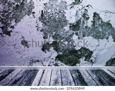 old empty room with the old finish - stock photo