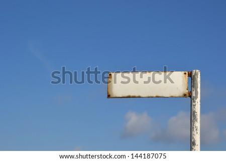old empty street sign - stock photo