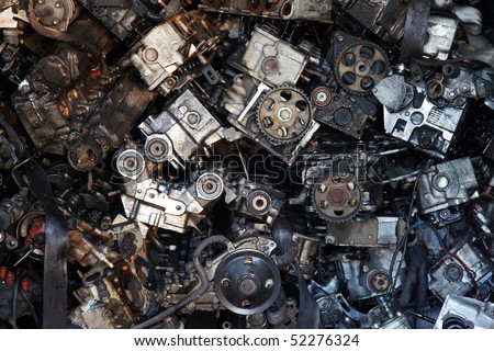 Old engine parts - stock photo