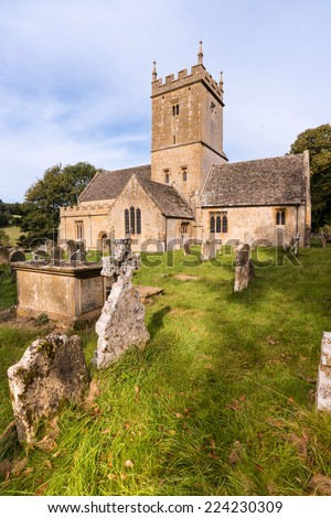Old English Church and Graveyard