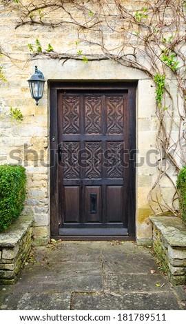 Old English Door - stock photo