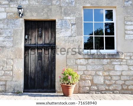 Old English Stone Cottage Built Circa 1750 - stock photo